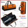 Portable Single PU Leather Wine Carrier (5593)