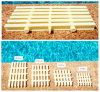 Three Connector Kidproof Plastic Swimming Pool Grating