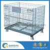 Folding Wire Mesh Storage Container for Warehouse Storage Using