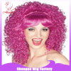 BSCI Carnival Party Pink Curl Synthetic Wigs (SN0054)