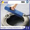 Portable Handheld Laser Marking Machine Printing on Rubber Tires