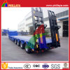 4 Axle Lowbed Semi Truck Low Loader Trailer with Ramp