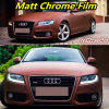 Matte Chrome Ice Film, Coffee Color Matte Chrome Vinyl Film for Vehicle Wrapping