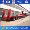 3axles China Cimc Hydraulic Low Bed Trailer