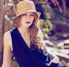 Wholesale Straw Sunshade Suncreen Leisure Foldable Lady′s Hat