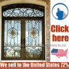 Cheap Price Steel Wrought Iron Door