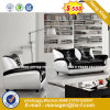 Modern Europe Design Steel Metal Leather Waiting Office Sofa (HX-8N2040)