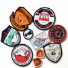 Wholesale Cheap Low Price Iron-on Garment Woven Patch/Woven Badge