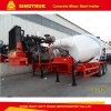 Twin Axle Heavy Duty Concrete Mixer Semi-Trailer
