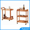 Bamboo Wooden Kitchen Serving Cart with Wheel