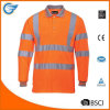Men′s Polo Shirts with Hi Vis Long Sleeve Safety Work-Wear