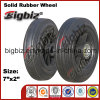 Hot Sale 7 Inch Solid Wheelbarrow Rubber Wheel