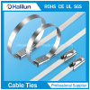 Non-Electrostatic Ball Lock Stainless Steel Cable Tie Thickness 0.25mm