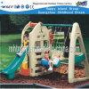 Outdoor Play Equipment Plastic Playhouse Children Slides (HF-20411)