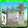 Firm Structure Metal Bus Stop Shelter-Bus Shelter Design