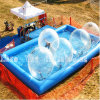 Blue Square Inflatable Swimming Water Pool for Water Park