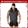 Wholesale Bodybulding OEM Service Sleeveless Zip Hoodie (ELTHSJ-1056)