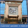 High-End Customized Entrace Front Golden Sainless Steel Door with Frame