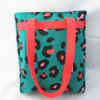 Girls Leopard Print Holiday Shopper Bag