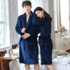 New Couple's Extra Long Flannel Bathrobe