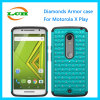 Diamonds PC Silicone Armor Phone Case for Motorola X Play