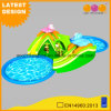 Safari Water Park Inflatable Sport Game Swing with Slide (AQ01780)
