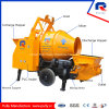 High Efficiency Portable Trailer Concrete Pump with 600L Hopper Drum Mixer