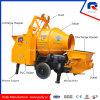 High Efficiency Portable Trailer Concrete Pump with 600L Hopper Drum Mixer