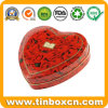 Heart Shape Tin Box for Chocolate Candy, Food Tin Can