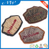 Branded Leather Patches PU Leather Patch with Metal Label