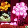 Outdoor Garden Decorative Rose Artificial Flower LED Decorative String Light