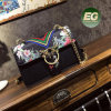 New Designer Bags High Quality Fashion Women Shoulder Bag Flower Printed Bags with Metal Ring Opening Sy8474