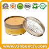 Round Travel Tin Box, Candle Tin, Metal Candle Container