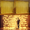 Colorful Outdoor Holiday LED Christmas Decoration 3*1m 144LED Curtain Light