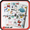 Cute School Notebook with Plastic Cover