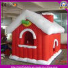 2016 High Quality Inflatable Christmas Santa Castle Huge House for Event Holiday