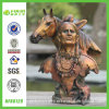 Resin Bronze Horse Head and Indian Souvenir (NF86129)