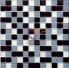 Silver Powder Backed Glass Mosaic Tile (CFC106)