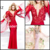 V-Neck Mermaid Evening Dresses Court Train Bridal Dresses W14871