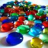 Flat Round Glass Pebble Stone