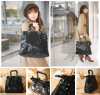 Leopard Vein Leather PU 2-Way Handbag (T080901)