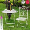 Light Weight Rustic Foldable Metal Garden Table and Chair Set