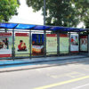 Street Furniture Advertising Customized Bus Stop Shelter Manufacture.