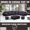 French Wooden Upholstered Living Room Leather Sofa