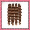 Peruvian Human Hair Weft Brown Color Loose Deep 30inch