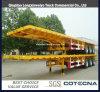 3 Axle Flat Bed Container Semi Truck Semi Trailer