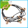 Leather Chain Skull Charm Bracelet #31462