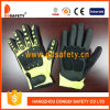 Ddsafety 2017 Fluorescence High Visible Hppe Shell with Black Ultra-Thin Nitrile Glove