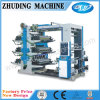 6 Color 1200mm Roll to Roll Plastic Bag Flexo Printing Machine