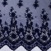 100% Polyester Solid Embroidery Lace Fabric